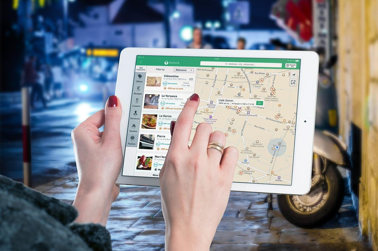 pruvodce mapa tablet