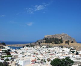 Řecké městečko Lindos