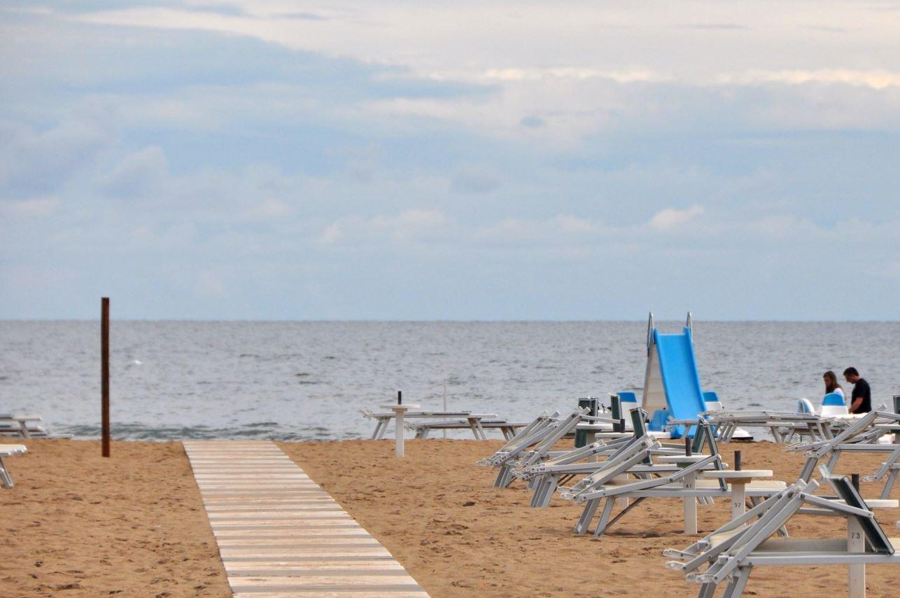 pláže v Rimini - Itálie